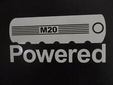 M20 Powered BMW E30 E34 2002 325i 525i eta window sticker vinyl decal #227