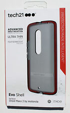 OEM Tech21 Evo Shell Droid Maxx 2 by Motorola case FlexShock Cover - Smokey/Red