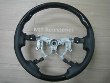MIT Toyota TUNDRA 2nd Gen 2007-2013 Black Piano genuine leather steering wheel