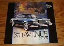 Original 1983 Chrysler 5th Fifth Avenue Deluxe Sales Brochure 83