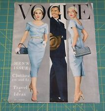 May Vogue 1953 Rare Vintage Vanity Fair Fashion Design Collection Magazine