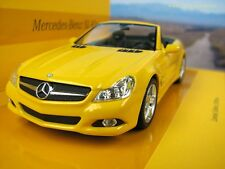Mercedes-Benz SL (R230), Yellow 2008 Cars, Minichamps 436037530  Diecast  1/43