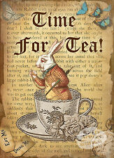 ALICE IN WONDERLAND TIME FOR TEA VINTAGE RETRO METAL SIGN HOME DECOR LOVELY GIFT