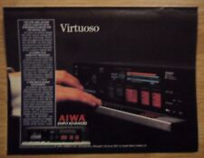 1985 Print Ad AIWA AD-F990 3-Head Cassette Deck ~ Simply Advanced VIRTUOSO