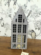 Dutch House Lantern Antique Grey - can be used with tealight or candle