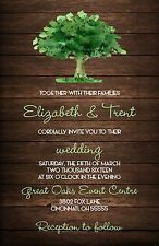 Wedding Invitations Tree & Wood Rustic Country 50 Invitations & RSVP Card