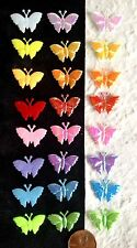 80 Butterflies butterfly Fabric iridescent party Embellishment picnic cards