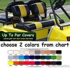 Club Car Pre-2000 DS Golf Cart Custom Seat Cover Set - 2 STRIPE STAPLE ON