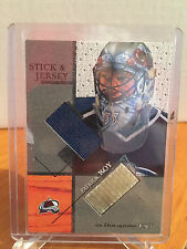 Patrick Roy 2003-2004 #SJ33 ITG Used Signature Series Jersey and Stick /80