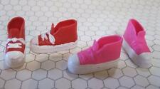 "Lot Mattel Barbie 11"" Adult Teen Skipper Flat Foot CONVERSE TENNIS Shoes 2 Pairs"