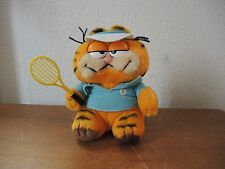 Stofftier Plüschtier Garfield Tennis orange ca. 70er 80er Jahre Super Zustand