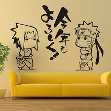 Naruto Uzumaki Uchiha Sasuke WALL STICKERS bedroom Bed Stickers Decal Cosplay