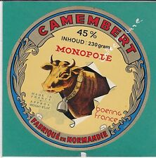 H42 FROMAGE CAMEMBERT MONOPOLE NORMANDIE  VACHE  CLOCHE