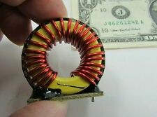 2 Large Falco THT Vertical Mounted Inductors Toroid Choke 25 Turns of 14AWG Wire