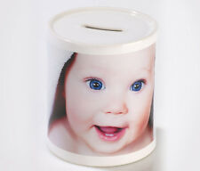 Personalised Money Box, Piggy Box, Insert any photo, logo or (and) text-gift