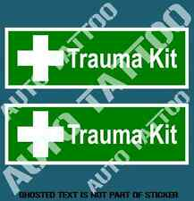 TRAUMA KIT DECAL STICKER SET FOR MEDICINE BOX COMMERCIAL OH&S WARNING STICKER