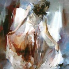 Willem Haenraets: Summerdress II Mädchen Mode FertigBild 30x30 Wandbild Fashion