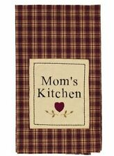 "Primitive `Cambridge Wine``Dish Towel`Mom's Kitchen` 20"" by 28"""