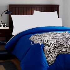 Pottery Barn Teen Zio Ziegler Tiger Head Cotton F/Q Duvet Cover- NEW