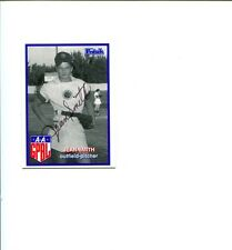 Jean Smith AAGPBL Grand Rapids Chicks Signed Autograph Photo Card