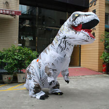Inflatable White T-Rex DINOSAUR Adult Costume TRex Costume Xmas game Party Dress