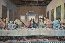 New The Da Vinci Last Supper Jesus Dining Woven Tapestry Wall Hanging Art Decor
