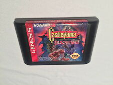 Castlevania: Bloodlines (Sega Genesis) Konami Game Cartridge Vr Nice!