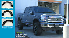 FENDER FLARES POCKET RIVET STYLE 2015 FORD F-150 PAINTABLE Finish COMPLETE Set