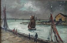 Original O/B Painting Honfleur Harbour by Achille-Emile Othon Friesz (1879-1949)