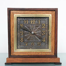 aTo Leon Hatot Art Deco Rare Mantel TOP Clock 1920s Antique French Shelf REWIRED