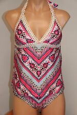 NWT BECCA  Swimsuit Bikini Tankini 2 pc set Size M American Fit Bottom Multi