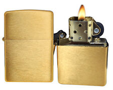 Zippo Lighter 204B Brushed Brass Windproof General NEW
