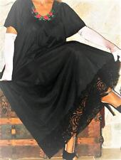 2 XL LONG TALL BLACK VINTAGE SLIP NEGLIGEE LINGERIE Nightgown Gown