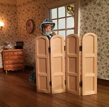 Dolls House Miniature 1:12th Scale Barewood/Unfinished Vanity Screen DIY