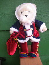 """DAKIN BEAR"" Dressed As Santa Claus - Red velveteen Suit, Long Stocking Hat- 14"""