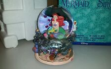 Disney Little Mermaid Ariel Flounder Snowglobe Plays Under the Sea with Box