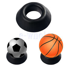 Ball Stand Basketball Football Soccer Rugby Plastic Display Holder Ball Seat DT