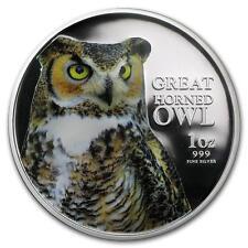 Niue 2013 2$ Birds of Prey - Great Horned Owl 1oz Silver Coin