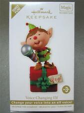 2012 Hallmark Keepsake Magic Ornament Voice Changing Elf Recordable QXG4034 NIB