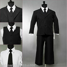 Well tailored infant baby boy Black wedding formal suit party size 12-18 months