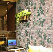 45cm*10m Roll Ivy/Brick Prepasted Self Adhesive Contact Paper Wallpaper