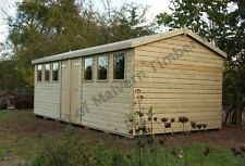"""20x10 19mm Tanalised """"DULUXE HEAVY DUTY"""" Shed/Workshop FREE CASMENTS UPGRADE"""