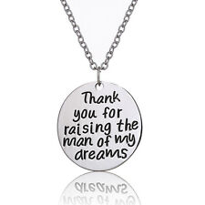 """Fashion Jewellery """"Thank You For Raising The Man Of My Dreams"""" Pendant Necklace"""