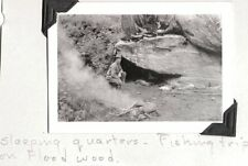 VINTAGE PHOTOGRAPH 1937 FLOODWOOD CREEK IDAHO FOREST WORKERS FISHING TRIP PHOTO