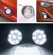 2x 9LED Round Daytime Driving Running Light DRL Car Fog Lamp Headlight White