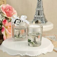 1 Eiffel Tower Candle Tea Light Wedding Gel Bridal Shower Gift Favor Paris Party