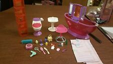 Barbie Doll Bathroom Furniture Toilet Shelf Unit Bathtub Sink Lots Accessories