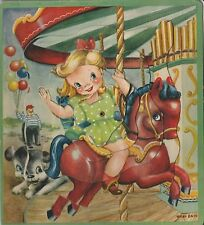 CAROUSEL Whirly Pics Puzzle in original box, circa 1950s, Neel Batu artwork