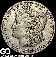 1895-O Morgan Silver Dollar, Low Mintage Choice VF++ Key Date, ** Free Shipping!