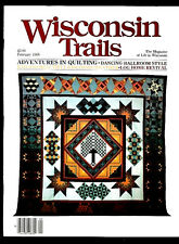 WISCONSIN HISTORY: WISCONSIN TRAILS MAGAZINE 2/1988-LOG CABINS-QUILTING-DANCING+